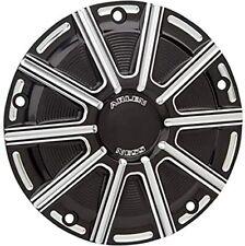 Arlen Ness 03-464 10-Gauge Derby Cover - Black Harley 99-17 Twin Cam 18 Softail