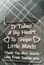 Personalised engraved Thank you teacher plaque coaster gift end of term