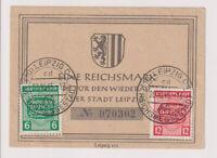 SBZ, Mi. 124/25, SOK Wiederaufbau der Stadt Leipzig, (Reichsmessestadt),20.10.45