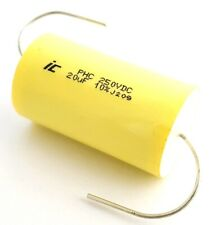 20uF 20 uF 250VDC 10% Metallized Polypropylene Axial Film Capacitors (1 piece)