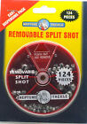 Neptune Tackle Removable fishing Split Shot 124 pieces BRAND NEW