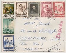 RARE COVER EXPRESS POSTE VATICANE TO FRANCE. 1965. L343