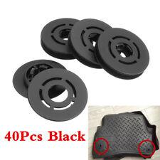 40x Car Mat Carpet Clips Fixing Grips Clamps Floor Holders Sleeves Premium Black