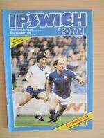 1/1/1983 Ipswich Town v Southampton 1982/83