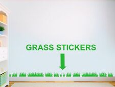 3.5 m Grass Vinyl Sticker Nursery kids Bedroom Playroom Wall Art stickers decals