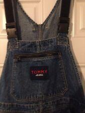 Vintage Tommy Hilfiger Denim Overalls M Spellout VTG Street Wear 90's Hip Hop