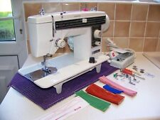 JANOME NEWHOME DELUXE STEEL & BRASS GEARS HEAVY DUTY SEWING MACHINE,ACC,SERVICED