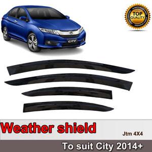 Quality Slim Weather Shield Weathershield Window Visor for Honda City 2014-2019