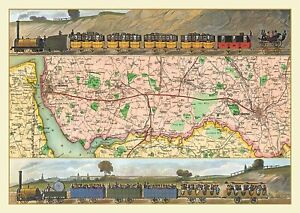 Travelling on the Liverpool to Manchester Railway 1830 Jigsaw 690mm x 480mm (jg)