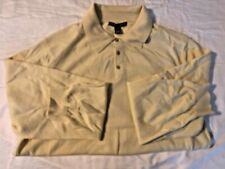 Saks Fifth Avenue Made in England 100% Cashmere  Polo Sweater Knit SIZE XL
