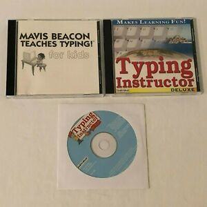 Mavis Beacon Typing Instructor Deluxe Kids Typing Computer PC Software CD-ROM