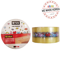 BT21 Character Packing Tape Office Supply Stationery Official K-POP Authentic MD