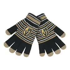 Vegas Golden Knights Gloves Acrylic Stripe Knit Sports Logo Winter Texting Tips