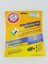 3-Count Arm & Hammer Electrolux C Odor Eliminating Vacuum Bags 62617G