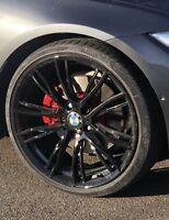 """4X Genuine BMW F32 F33 4-Series 3-series multi Spokes 361 Black 20"""" Wheels Set"""