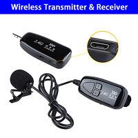 2.4G Wireless microfono bavero MIC ricevitore & trasmettitore spina & giocare