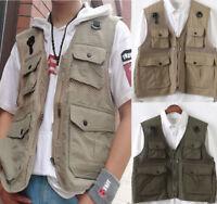 MULTI-POCKETS safari waistcoat hunting fishing Photographer vest Fast drying