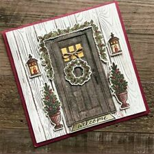 Metal Cutting Dies Christmas Scrapbooking Paper Craft Die Door Plants 12pcs New