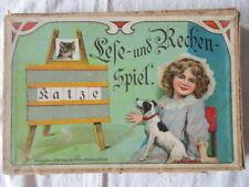 TOPRARITÄT Spear & Söhne Nürnberg Lese und Rechenspiel Lernspiel ca. 1900