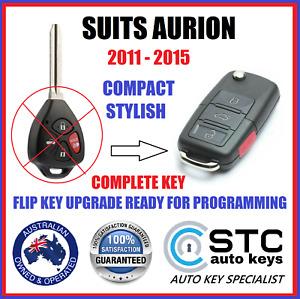 SUITS TOYOTA AURION CAR REMOTE G TRANSPONDER FLIP KEY 2011 2012 2013 2014 2015