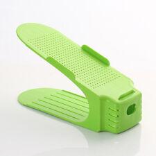Multi-color Display Rack Shoes Organizer Space-Saving Plastic Rack Storage US !