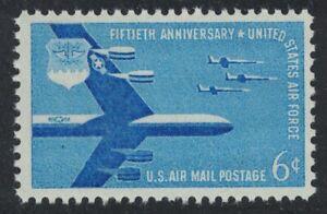 Scott C49- Air Force, 50th Anniversary- MNH 6c 1957- unused mint Airmail stamp
