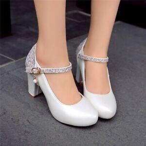 Elegant Bridal Wedding Shoes Ladies Fashion High Heel Sequin Lace-up Pumps