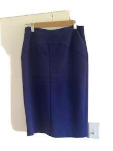Cue Blue Pencil Skirt Size 10