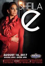 Sheila E 2017 New York Concert Tour Poster- R&B,Pop,Soul,Pop Rock,Funk,Latin Pop