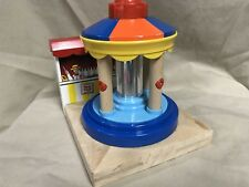 Thomas Train Engine Wooden Railway Musical Carousel A Does NOT Wind Up or Spin