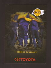 Los Angeles Lakers--2008-09 Pocket Schedule--Toyota Tacoma