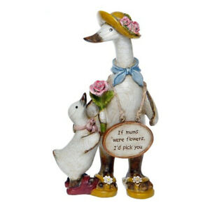 Mums Message Duck A - If Mums were flowers I'd pick you - Davids Mother Ornam