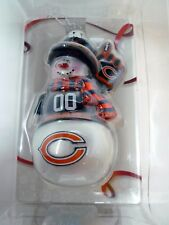 New NFL Chicago Bears Christmas Ornament Blown Glass  Snowman