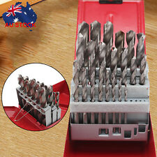 25pcs HSS High Speed Steel Metric Drill Bit Set Metal Case 1mm - 13mm