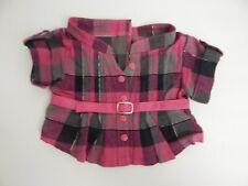 New listing Build A Bear ~ Pink & Black Plaid Shirt
