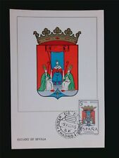 SPAIN MK 1965 ESCUDO SEVILLA WAPPEN BLAZON MAXIMUMKARTE MAXIMUM CARD MC CM c5962