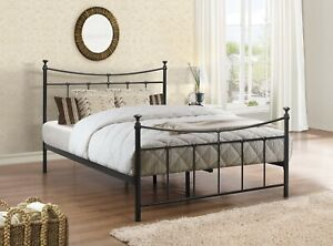 Birlea Charming Traditional Emily Bed Available In Cream Or Black 3FT 4FT 4FT6