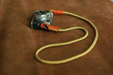 8mm camera neck shoulder strap handmade gray yellow climbing rope | Windmup