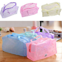 Transparent PVC Toiletry Storage Bags Portable Clear Travel Cosmetic Make Up Bag