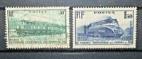 FRANCIA 1937 TRENI FERROVIE LOCOMOTIVE TIMBRATI USED SET (CAT.2)