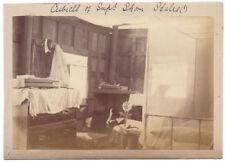 Victorian Bedroom - Antique Albumen Photograph c1890
