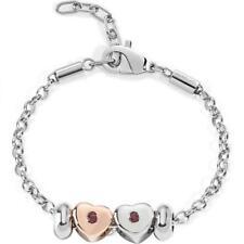 Bracciale Donna MORELLATO DROPS SCZ452 Acciaio Charms Cuore Heart Rosè Pietre