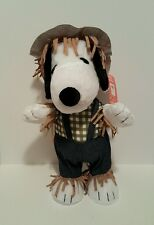 """Snoopy Scarecrow Porch Greeter 21"""" Harvest Halloween Thanksgiving Collectible"""