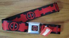 Deadpool Wade Wilson Buckle-Down Seat Belt Marvel Comics ADJUSTABLE! CHAIN 0171