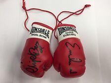 Chris Eubank v Nigel Benn Autographed Mini Boxing Gloves