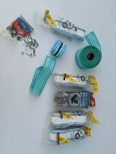 Lot of Vintage Re-Web Strapping Kit Lawn Chair Blue White brown parts as shown