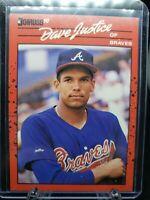 1990 Donruss Baseball DAVID JUSTICE RC #704 Atlanta Braves ROOKIE CARD Centered