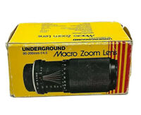 Vintage Underground Macro Zoom Lens for Konica 80-200mm f/4.5 Made in Japan EUC