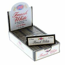 JOB French White Cigarette Rolling Paper 1.25 24 Booklets Box Made in France