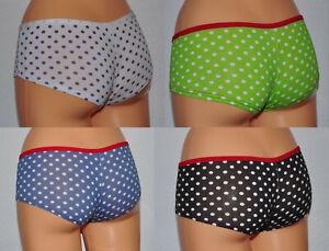 Damen Slip Höschen Panty Punkte Unterhose Unterwäsche in 4 Farben Gr.36 38 40 42